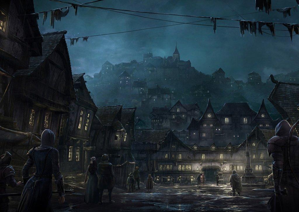 Medieval Town At Night Audio Atmosphere
