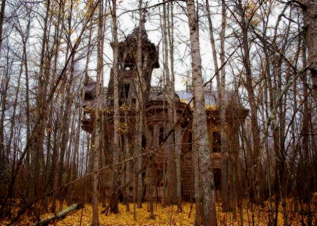 haunted woods  village